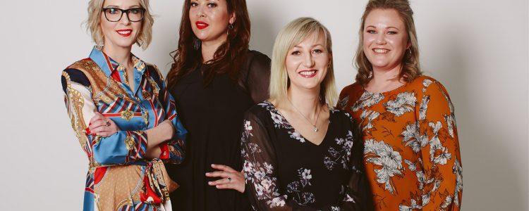 Photo of the team at Lend. From left to right, Jo Taylor, Natasha Viliamu, Venessa Jones-Dutton and Cat Fahey.