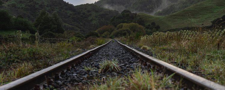 Railway tracks on the Forgotten World Highway 43